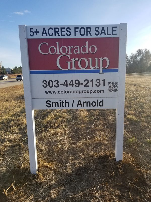 Commercial Real Estate Sign in Lafayette, Colorado