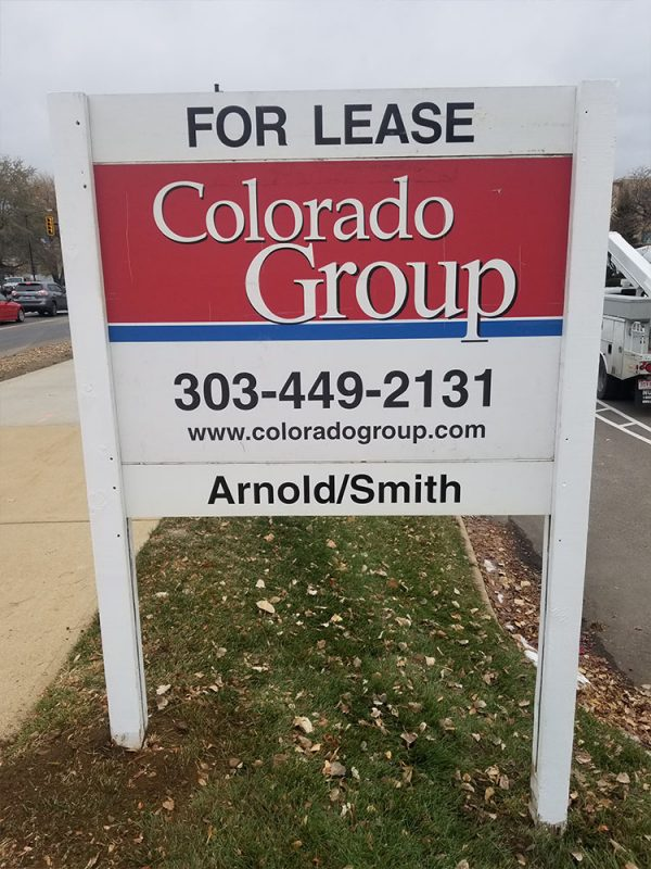 New sign install on 38th Street in Boulder
