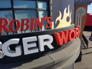 Electric Signs - Channel Letters - Halo Lit - Red Robin Burger Works