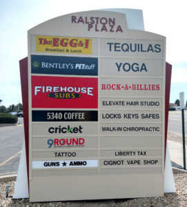 Multi-Tenant Monument Sign with Tenant Panels