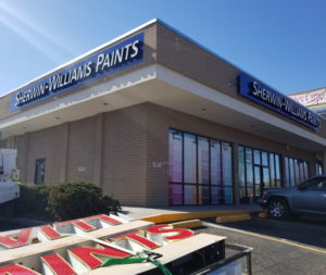 Sherwin WIlliams Channel Letters Northglenn Colorado