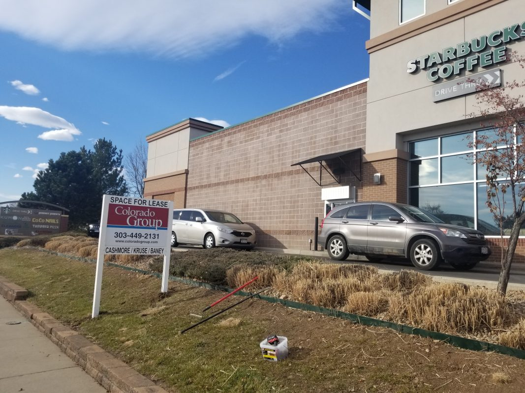 Post and Panel sign in Longmont, Colorado