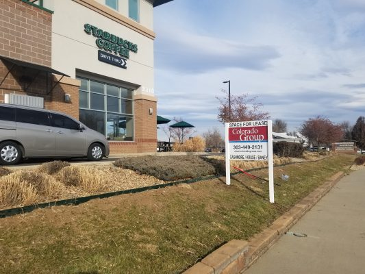 Commercial Real Estate Post and Panel Sign in Longmont
