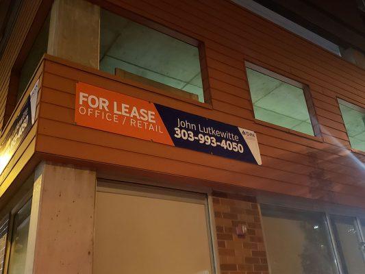 Banner install along Lincoln Street in Denver