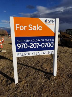 Commercial Real Estate Sign Install in Loveland, Colorado
