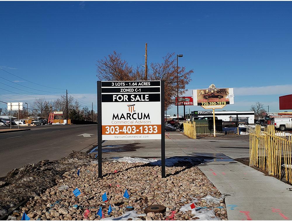 Commercial Real Estate Sign in Denver, Colorado