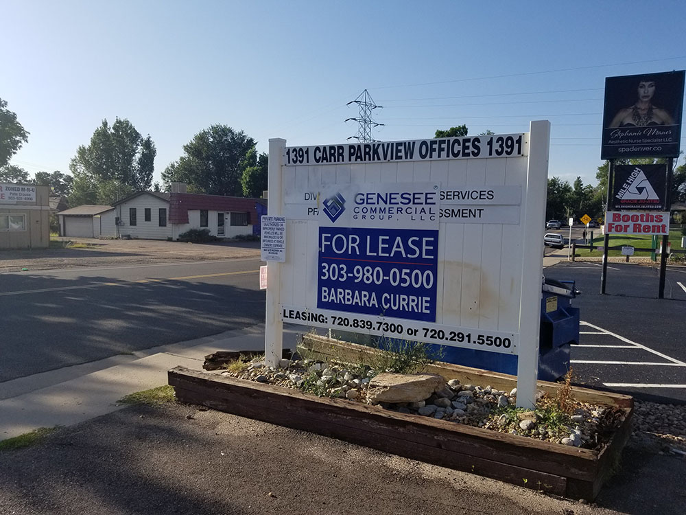 Genesee Commercial Group Real Estate Sign Removal in Lakewood, Colorado