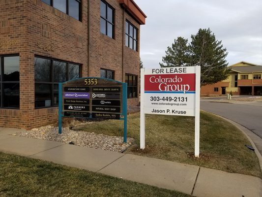 For Lease Post and Panel Sign