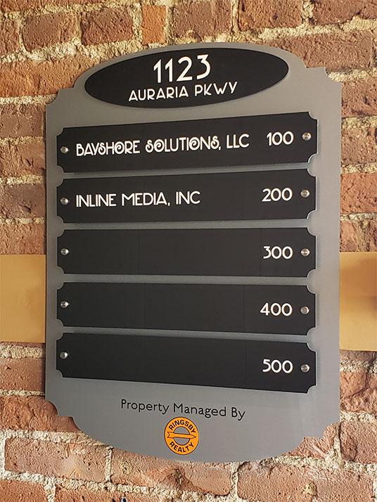 Interior Office Building Directory