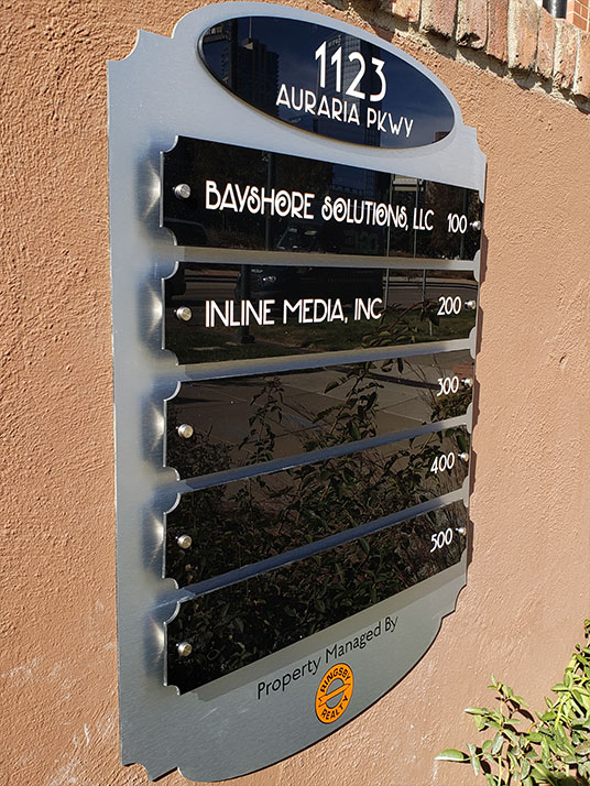Exterior Directory on Auraria Parkway