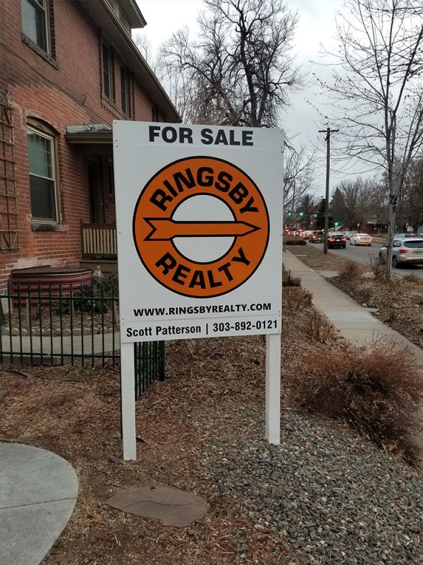 Sign removal in Denver for Ringsby Realty