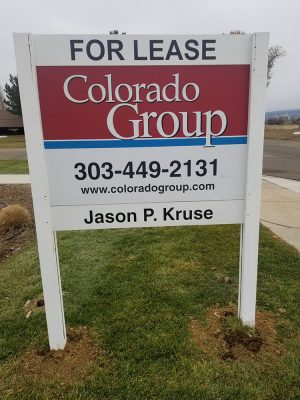 For Lease Sign Install in Boulder Colorado