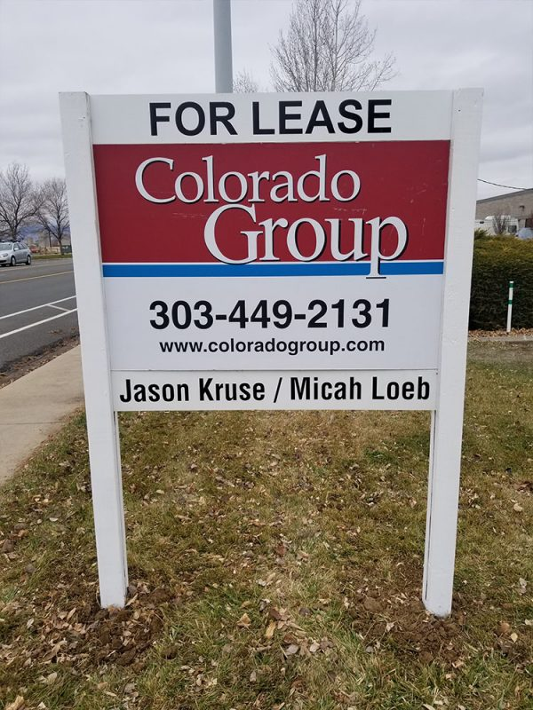 Post and Panel Sign Installation in Longmont, Colorado