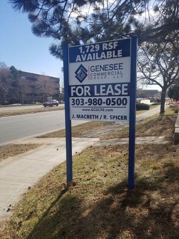 Commercial Real Estate Sign Install in Lakewood, Colorado